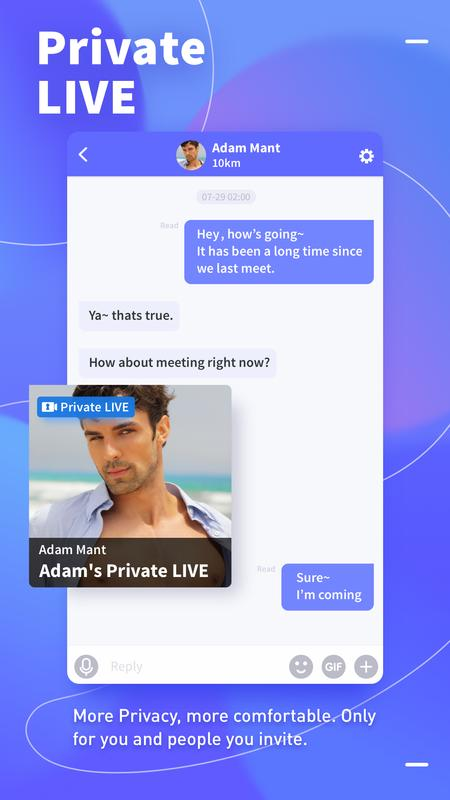 The Description Of Blued Gay Video Chat Live Stream ApK