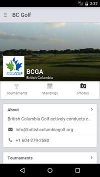 British Columbia Golf poster