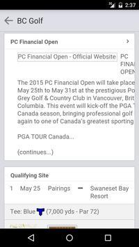 British Columbia Golf screenshot 1