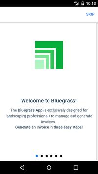 Bluegrass Lawn Care Invoicing poster