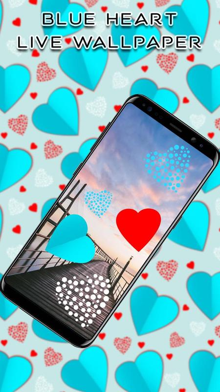 blue hearts crystal live wallpaper for android apk download