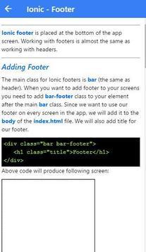 Learn Ionic apk screenshot