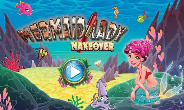 Mermaid Lady Wedding Makeover Game poster
