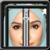 Zipper Lock Screen Hijab icon