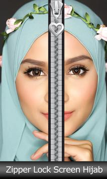 Zipper Lock Screen Hijab poster