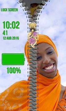 Zipper Lock Screen Hijab screenshot 11