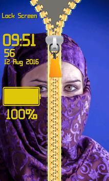 Zipper Lock Screen Hijab screenshot 13