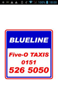 Blueline Five-0 Taxis poster