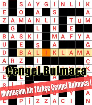 Crossword Turkish Puzzles Game 2018 poster