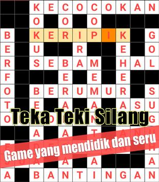 Indonesian Crossword Puzzle Game Free poster