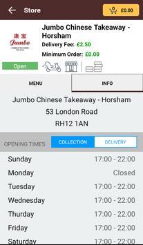 Jumbo Chinese & Thai Take Away apk screenshot