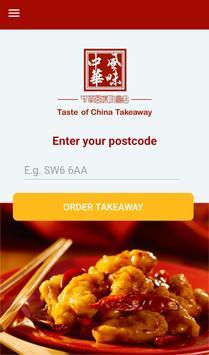 Taste Of China Takeaway, Edinburgh poster