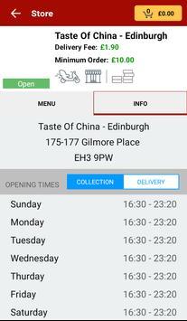 Taste Of China Takeaway, Edinburgh screenshot 2
