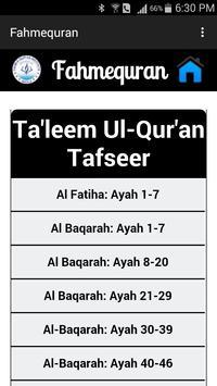 Fahm-e-Qur'an apk screenshot