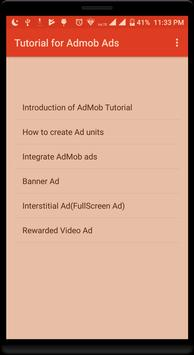 Tutorial for AdMob Ads poster