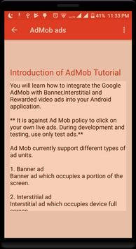 Tutorial for AdMob Ads screenshot 1