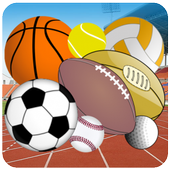 Sport memory kids games icon