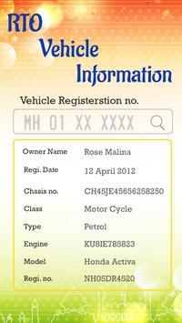 RTO Vehicle Information poster