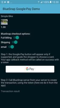 BlueSnap-GooglePay Demo screenshot 1