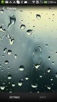 Water drops live wallpaper apk screenshot