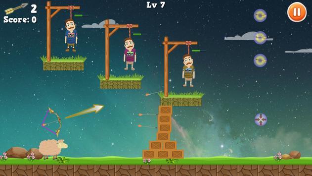 Rescue Bearded Archery Game apk screenshot