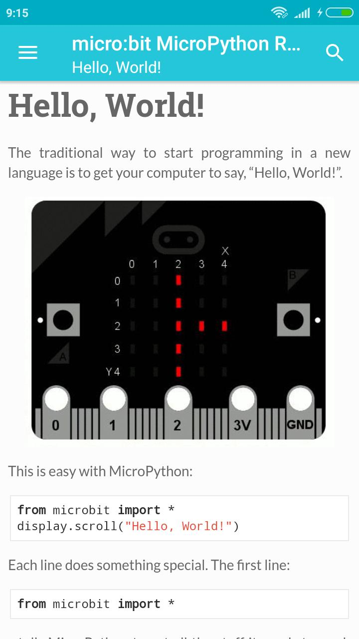micro:bit MicroPython Reference for Android - APK Download