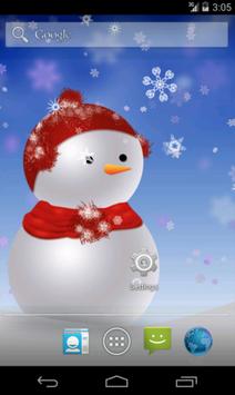 Snowman LWP screenshot 1