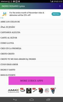 INGRID ROSARIO LYRICS screenshot 3