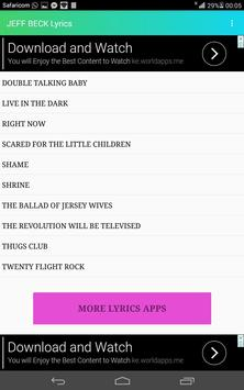 JEFF BECK LYRICS apk screenshot