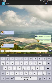 Bluret Chat App apk screenshot
