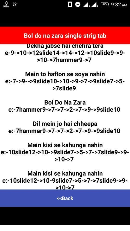 Music Instrument Hindi Songs Guitar Tabs On Single String Try it and maintain ur speed as listening to song. hindi songs guitar tabs on single string