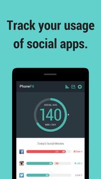 PhoneFit Beta - usage tracker poster