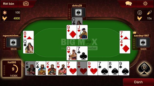 BIGMAX - GAME BAI, DANH BAI apk screenshot