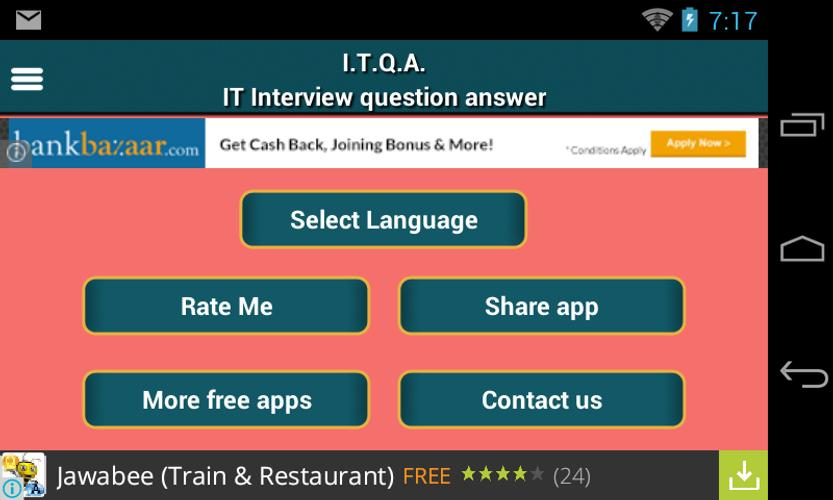 it interview question answer poster