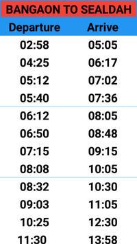 BANGAON TRAIN TIME screenshot 1