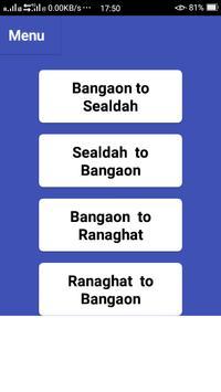 BANGAON TRAIN TIME screenshot 3