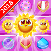 cookie sunflower : match 3 puzzle icon