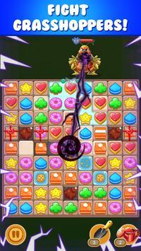 cookie sunflower : match 3 puzzle screenshot 1