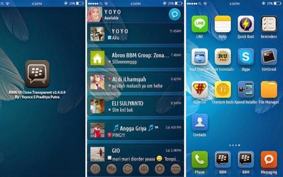 New bbm transparan apk screenshot