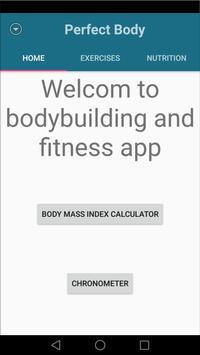 perfect body : bmi & workout poster