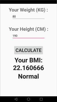 perfect body : bmi & workout apk screenshot