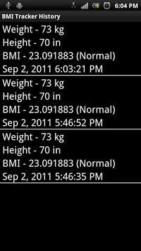 BMI Tracker screenshot 2