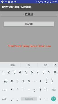 OBD DIAGNOSTIC FOR BMW CARS apk screenshot
