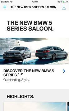 BMW 5 Series catalogue poster