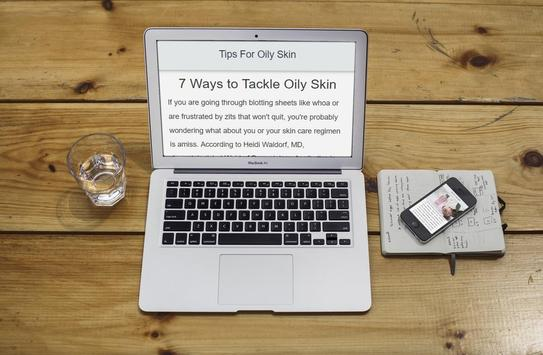 Tips For Oily Skin (Naturally) poster