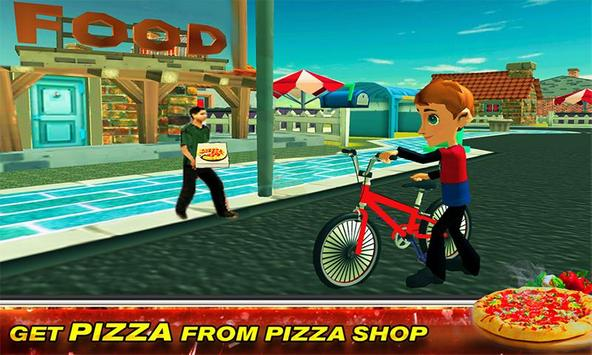 BMX Bicycle Pizza Delivery Boy poster