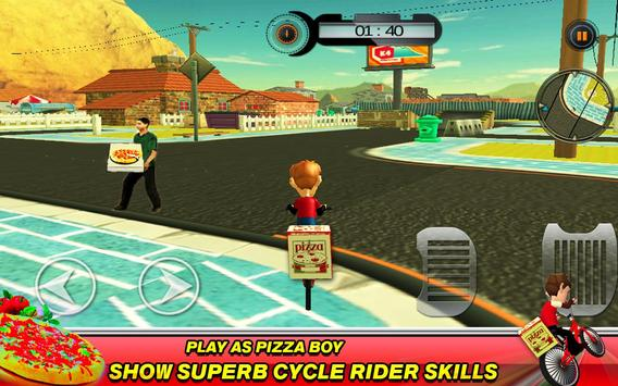 BMX Bicycle Pizza Delivery Boy apk screenshot