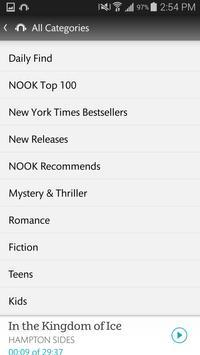 NOOK Audiobooks apk screenshot