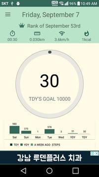 Smart & Free Pedometer, WalKing apk screenshot