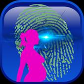 Pregnancy test scan prank icon
